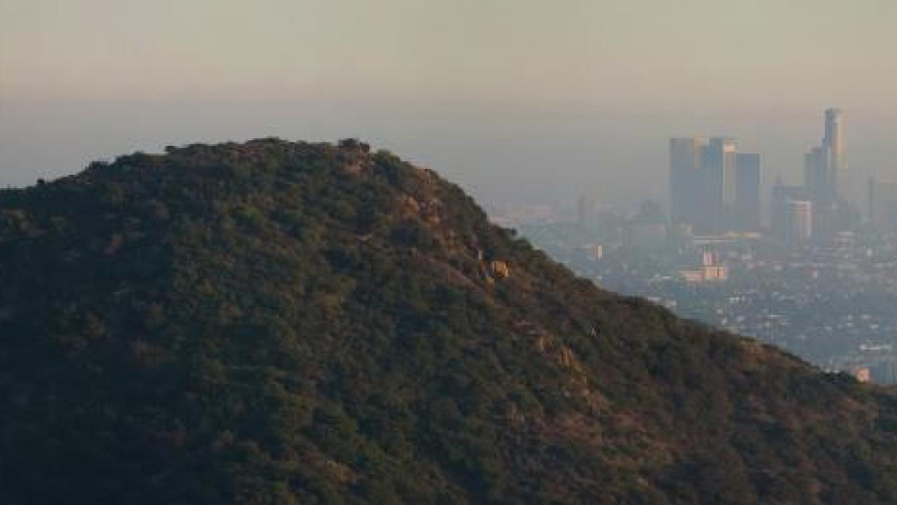 Los Angeles Griffith Observatory and Air Pollution
