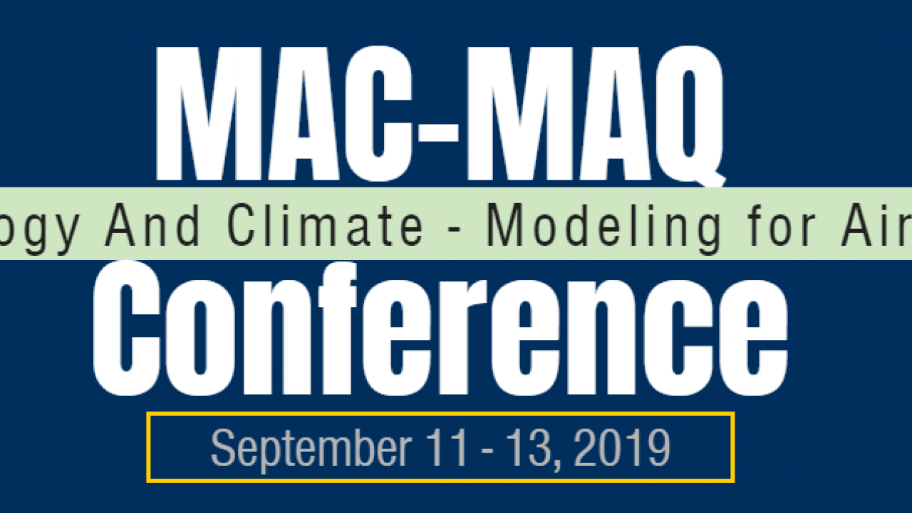 Image: logo for Meterology And Climate Modeling for Air Quality MAC-MAQ conference.