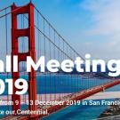 "Image: Golden Gate Bridge of San Francisco with text that reads, ""Fall Meeting 2019""."