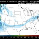 Map of California wildfire smoke traveling across the nation